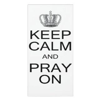 Inspirational Keep Calm and Pray On Royal Crown Door Sign