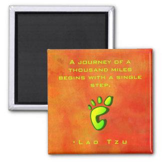 Inspirational Motivational Wisdom by Lao Tzu Magnet