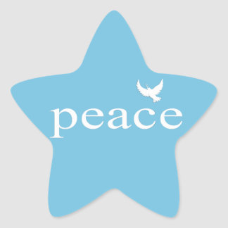 Inspirational Peace Quote Star Sticker