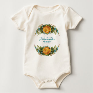 Inspirational Quote for Women by Nancy Reagan Baby Bodysuit