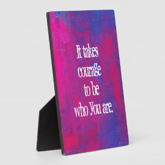 Inspirational Quote on Abstract background Plaque