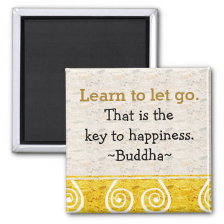 Inspirational Quotes Buddha Happiness Square Magnet