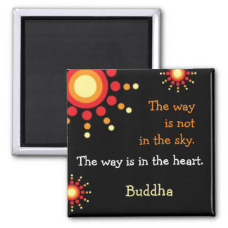 Inspirational Quotes Buddha Within You Square Magnet