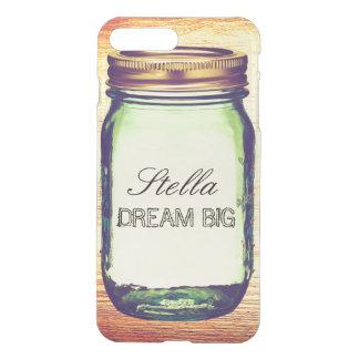 Inspirational Quotes Dream Big on Retro Mason Jar iPhone 8 Plus/7 Plus Case