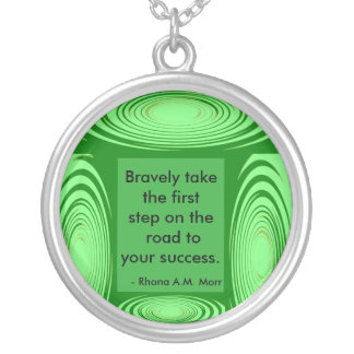 Inspirational Quotes G Jade Ripples Necklace