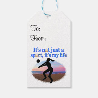 INSPIRATIONAL VOLLEYBALL IS MY LIFE DESIGN GIFT TAGS