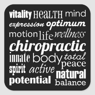 Inspirational Words Chiropractic Stickers