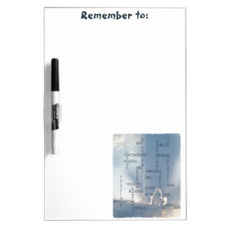 Inspirational Words to Live by for Happiness Dry Erase Board