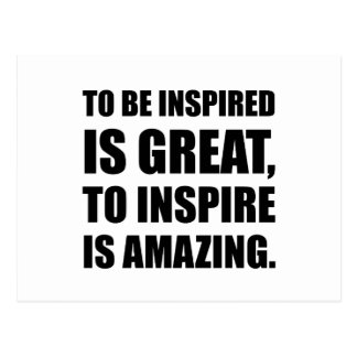 Inspire Is Amazing Postcard
