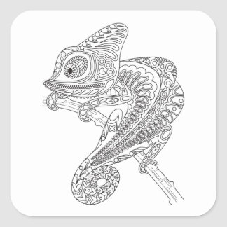 Inspired Chameleon Square Sticker