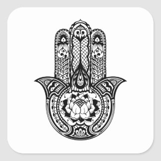 Inspired Hamsa Symbol Square Sticker