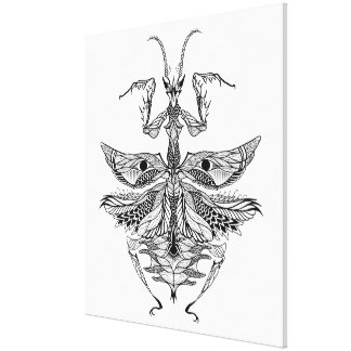 Inspired Praying Mantis 6 Canvas Print