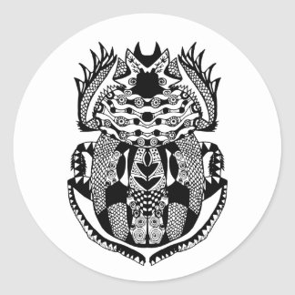 Inspired Scarab Classic Round Sticker