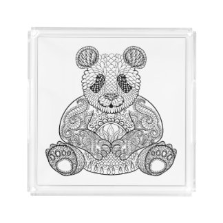 Inspired Tribal Panda Acrylic Tray