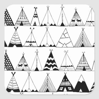 Inspired Wigwam Square Sticker