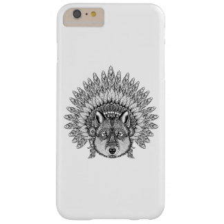 Inspired Wolf In Feathered War Bonnet Barely There iPhone 6 Plus Case
