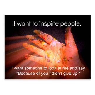 Inspiring Quote Postcard