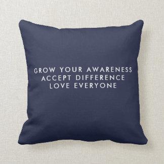 Instagram 9 photo Grow Acceptance Pillow