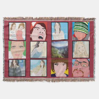 Instagram Mosaic Dp Pink Customized Throw Blanket