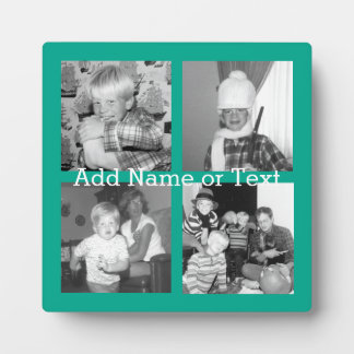 Instagram Photo Collage with 4 pictures - emerald Plaque