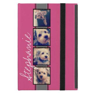 Instagram Photo Display - 4 photos pink name Case For iPad Mini