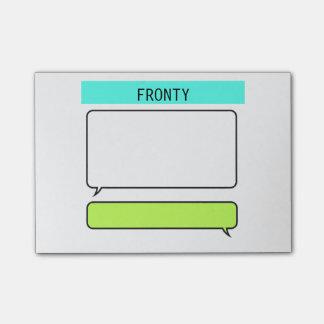 Instant Message Conversation Bubble Post-it Notes