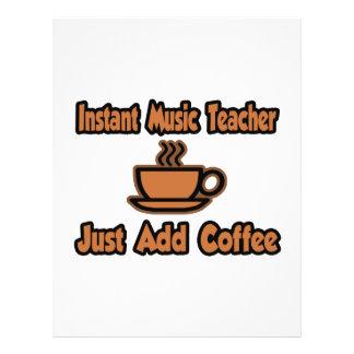 Instant Music Teacher Just Add Coffee Flyer Design