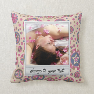 Instant photo - photoframe with pattern cushion