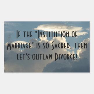 Institution of Marriage Rectangular Sticker