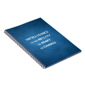 Intelligence Quote Photo Notebook