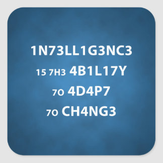 Intelligence Quote Square Sticker