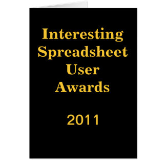 Interesting Spreadsheet -Add Image- Good Luck card