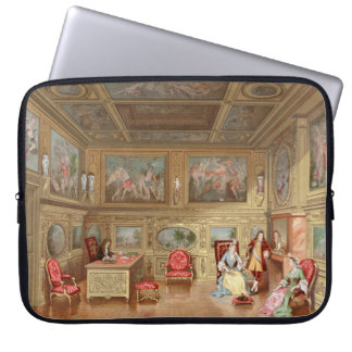 Interior Design Elizabethan Fireplace Vintage 1800 Laptop Sleeve