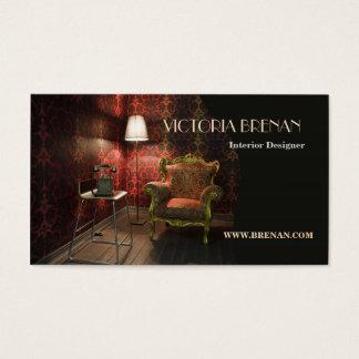 Interior Designer Furniture Vintage Antique Business Card