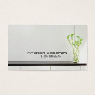 Interior Designer Light Room Style Business Card