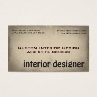 Interior Designer Remodeling Business Card