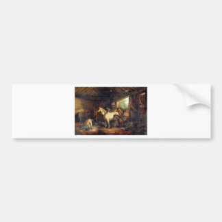 Interior of a Stable by George Morland Bumper Sticker