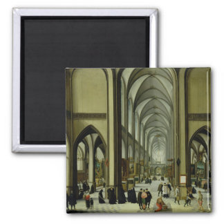 Interior of Antwerp cathedral Magnet