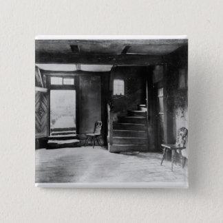 Interior of Johann Sebastian Bach's  house 15 Cm Square Badge