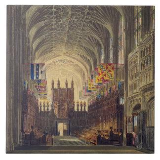 Interior of St. George's Chapel, Windsor Castle, f Tile