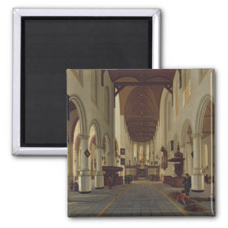 Interior of the Oude Kerk, Delft, c.1660-70 Magnet