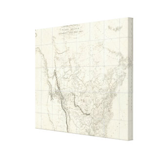 Interior Parts of North America Stretched Canvas Print