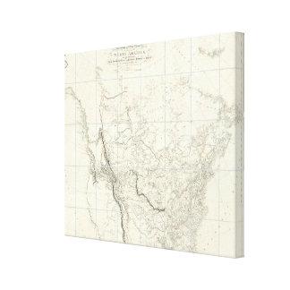 Interior Parts of North America Canvas Print