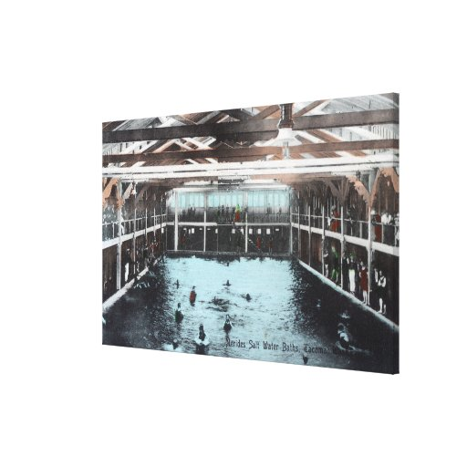 Interior View of Nerides Salt Water Baths Gallery Wrapped Canvas