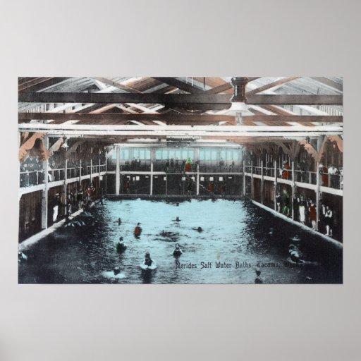 Interior View of Nerides Salt Water Baths Print