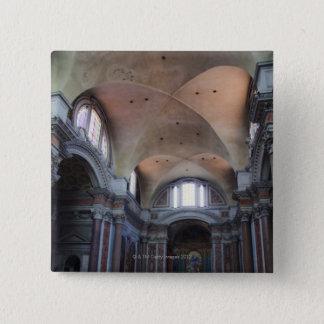 Interior view of Santa Maria degli Angeli in 15 Cm Square Badge