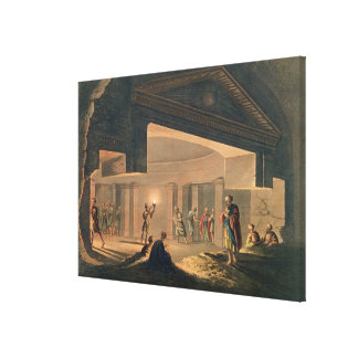Interior View of the Catacombs at Alexandria, plat Canvas Print