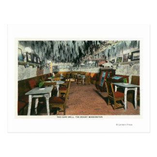 Interior View of the Cave Grill Postcard
