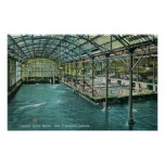 Interior View of the Indoor Sutro Baths Poster