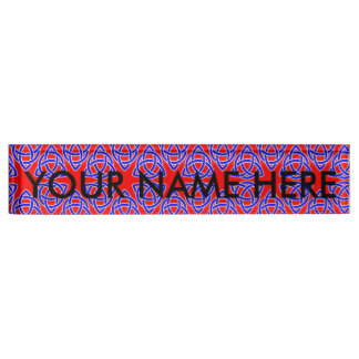 INTERLACED: RED & BLUE ILLUSION  ~ NAME PLATE